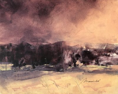 Richard Morin Approaching Storm oil 8x10 225