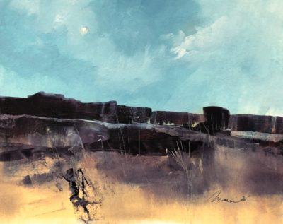 Richard Morin Violet Landscape 20 oil 8x10 225