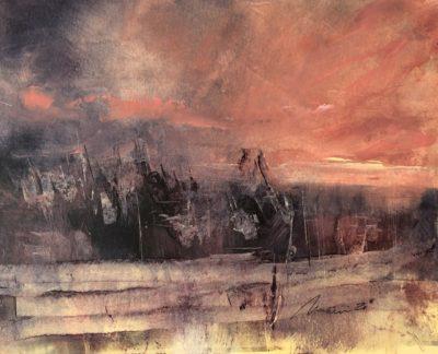 Richard Morin North Woods Sunset oil 8x10 225