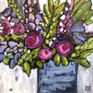 Dana Boucher Vivacious Bloom Acrylic 36x36 1900
