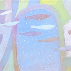 Ann Trainor Domingue Finding Meaning Acrylic 40x10 1780