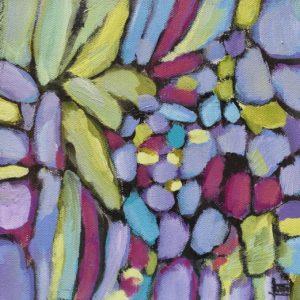 Dana Boucher Petals and Stones Acrylic 8x8 350