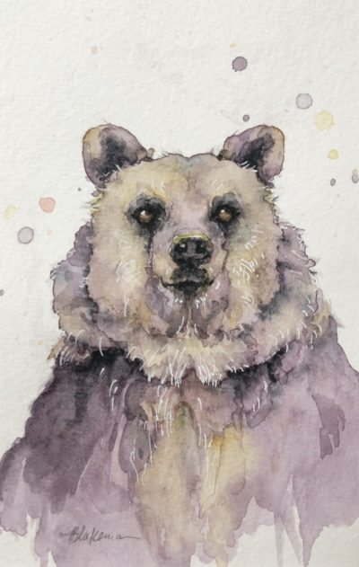 Marcia Blakeman Awww Shucks Watercolor 4x6 150