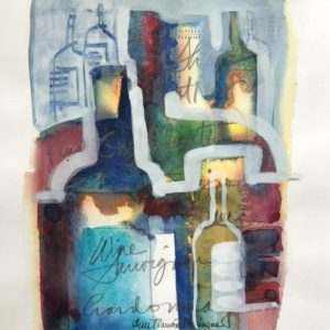 Ann Trainor Domingue By the Label Watercolor 5x7 150