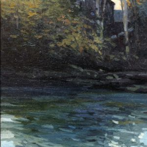 Sandy Wadlington Old Mill Building Oil 5x7 300
