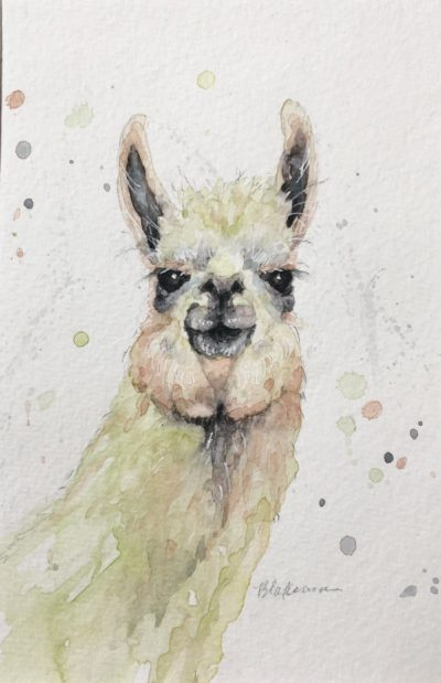 Marcia Blakeman How about a Kiss Watercolor 4x6 150