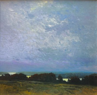 Sandy Wadlington Partly Cloudy oil 10x10 525
