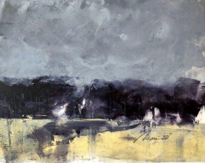 Richard Morin Mountain Meadow Fog Oil 8x10 225