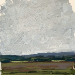 Colin Callahan summer skies oil 7x7 400
