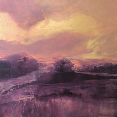 Richard Morin Last Light sky oil 11x11 300