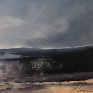 Richard Morin Violet Landscape #4 oil 7x9 225