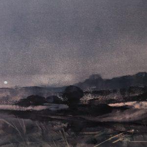 Richard Morin Early Moon oil 7x9 225