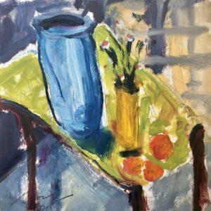 Richard Morin Green Table oil 11x11 300