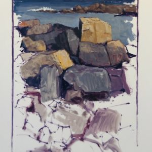 Colin Callahan Rocky Coast oil 20x36 1250