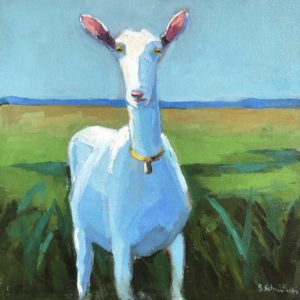 Betsy Schulthess Standing Tall 12x12 oil 500