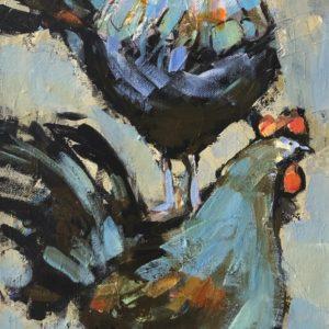 Cheryl Vratsenes On My Back Acrylic 10x20 695