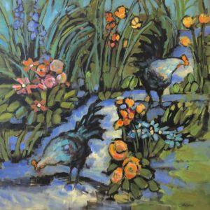 Cheryl Vratsenes Garden Stroll Acrylic 36x36 2500