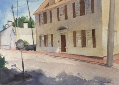 Judy McLean Near Strawberry Banke 2 Watercolor 11x15 425