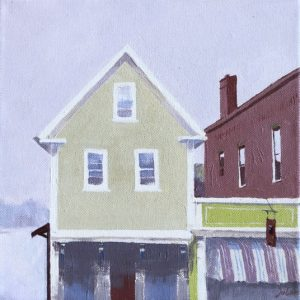 Judy McLean Main Street Rockport, MA Acrylic 10x10 450