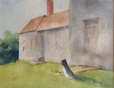 Olsen House North Side Judy McLean Watercolor 11x15 425