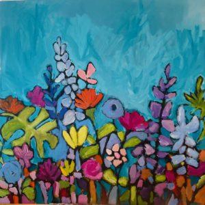 Dana Boucher Happiness Acrylic 48x48 2400