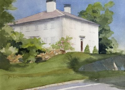 Judy McLean Wallace Road Icon Bedford, NH Watercolor 11x15 425