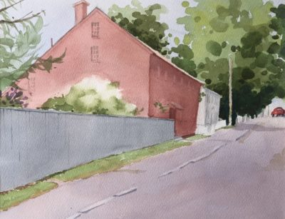 Judy McLean Old Red House 2 Watercolor 11x15 425