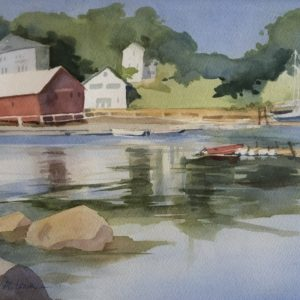 Judy McLean The Harbor watercolor 10x14 373