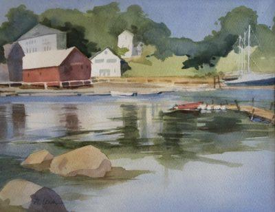 Judy McLean The Harbor watercolor 10x14 373