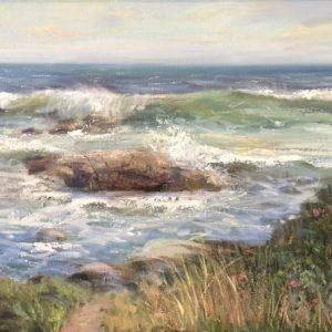 Celia Judge The Granite Coast oil 24x36 2000