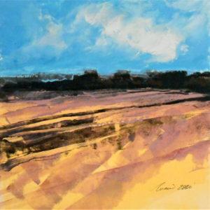 Richard Morin Lavender Fields II oil 12x12 300