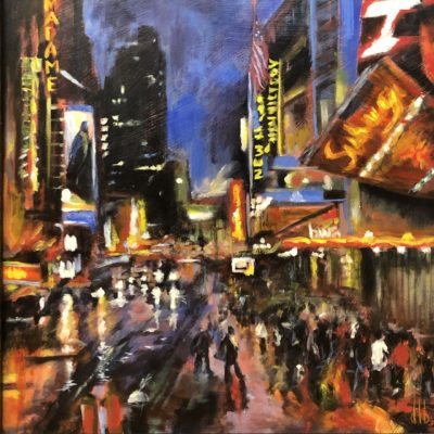 Doreen Boissonneault NYC Night Glow Oil 12x12 1000
