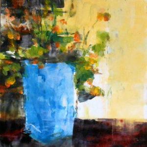 Richard Morin Turquoise Vase Oil 8x10 225