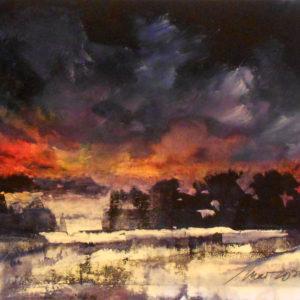 Richard Morin High Country Sunset 8x10 oil 225