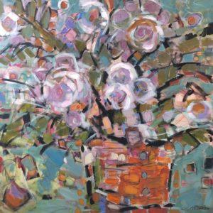 Cheryl Vratsenes Spring Fling III acrylic 36x36 2500