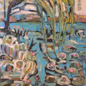 Cheryl Vratsenes Merry Willow acrylic 36x48 2950