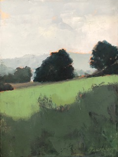 Molly Wensberg Field Greens oil 12x9 600