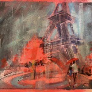 Patrick McCay Paris In The Rain 5 oil 8x10 165