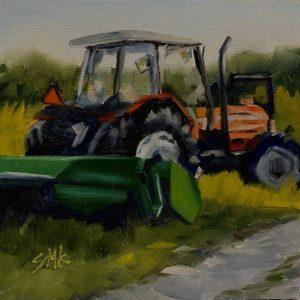 Sandra Kavanaugh Parked In The Grass oil 6x6