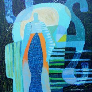 Ann Trainor Domingue Multilayerd Life acrylic 20x20 1700