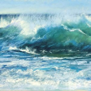 Sandra Kavanaugh Salt Spray pastel 23x11 800