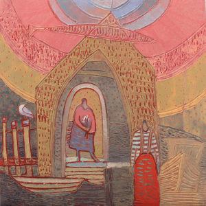 Ann Trainor Domingue Ready To Go acrylic 18x18 1500