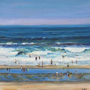 Ceila Juge Beach Life acrylic 18x18 1500