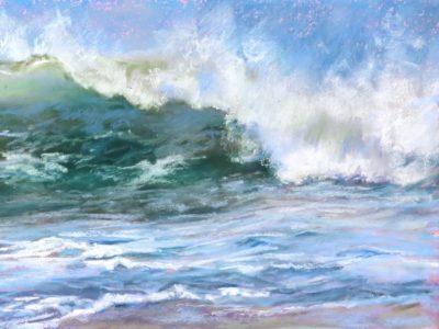 Sandra Kavanaugh Atlantic Splash pastel 11.5x9 4751