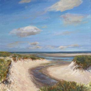 Celia Judge Lower Cape Dunes acrylic 36x36 5500