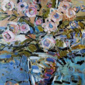 Cheryl Vratsenes Spring Fling II acrylic 36x36 2500