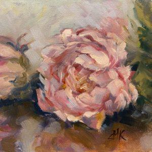 Sandra Kavanaugh Pink Beauty oil 6x6 125
