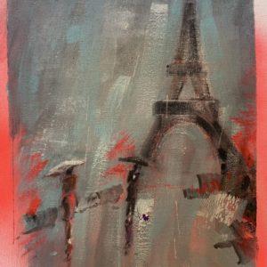 Patrick McCay Paris In The Rain 4 oil 8x10 140