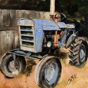 Sandra Kavanaugh Old Blue oil 6x6 150