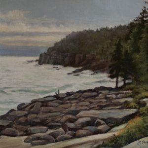Dawn Sanel Coastal View oil 12x16 950